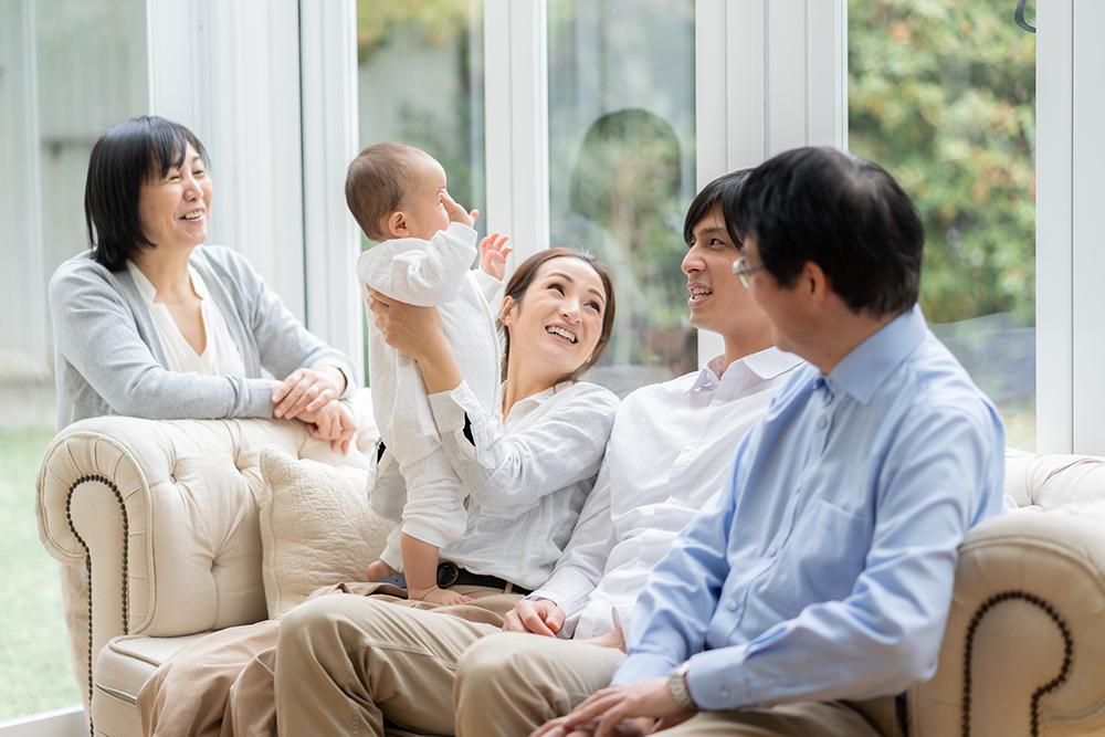 長期優良住宅で三世代が快適に暮らすイメージ