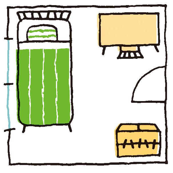 4.5畳の子供部屋のレイアウトの例