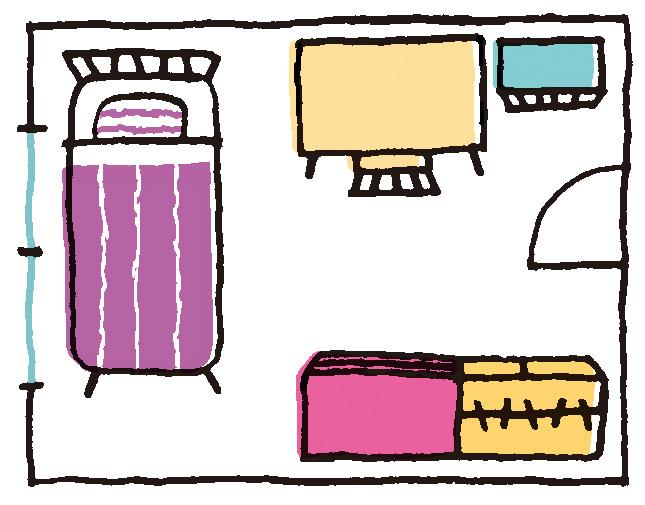 6畳の子供部屋のレイアウトの例