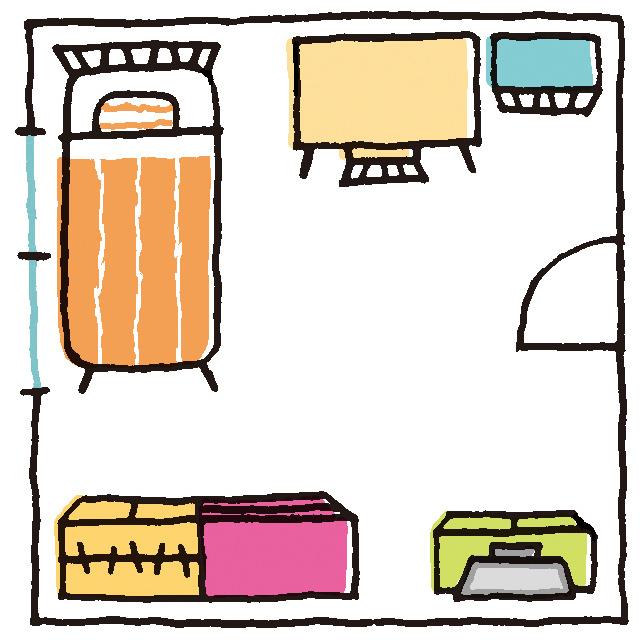 8畳の子供部屋のレイアウトの例
