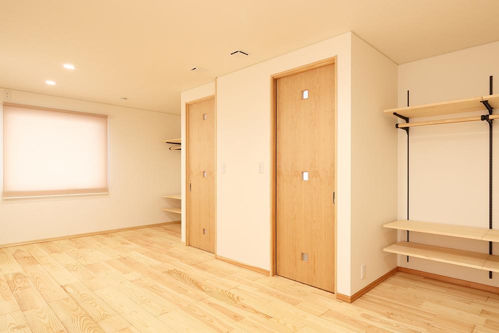 広い部屋を2つの子供部屋にするイメージ