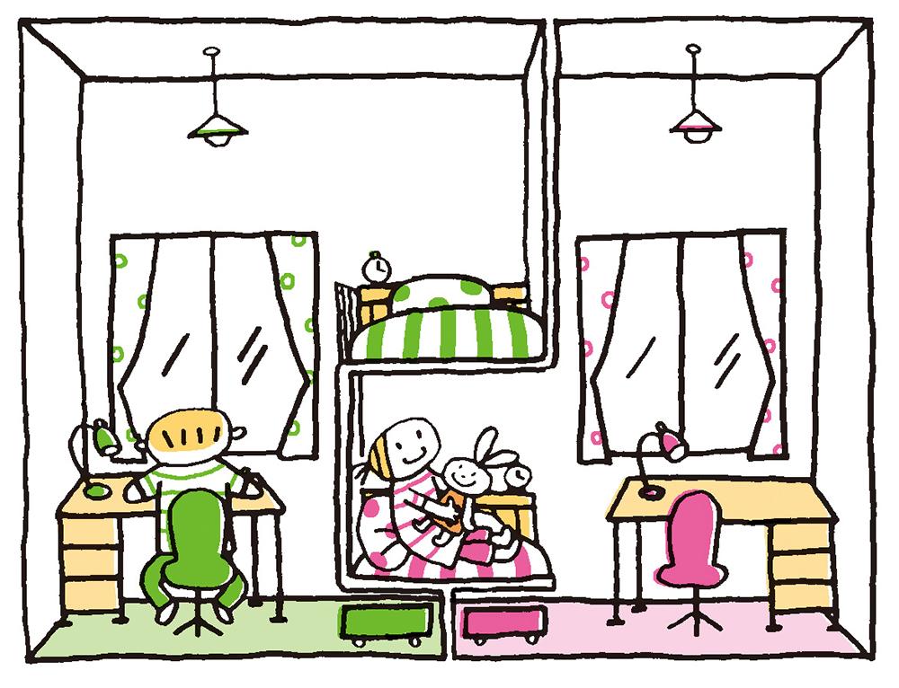 広い部屋を区切るイメージ
