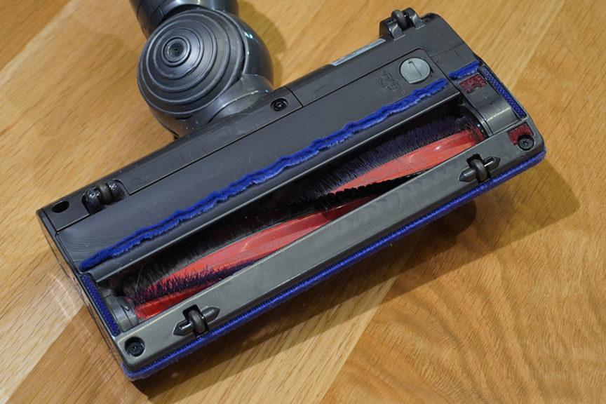 カーペット用の掃除機のヘッドブラシ部分