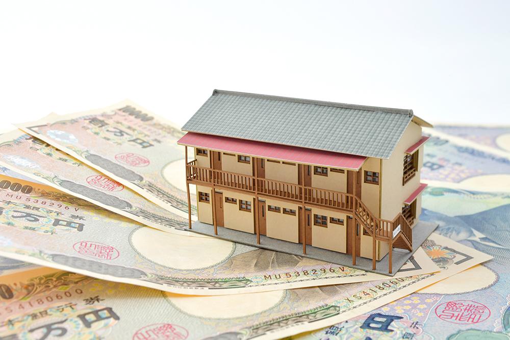 収益が得られる賃貸アパートのイメージ