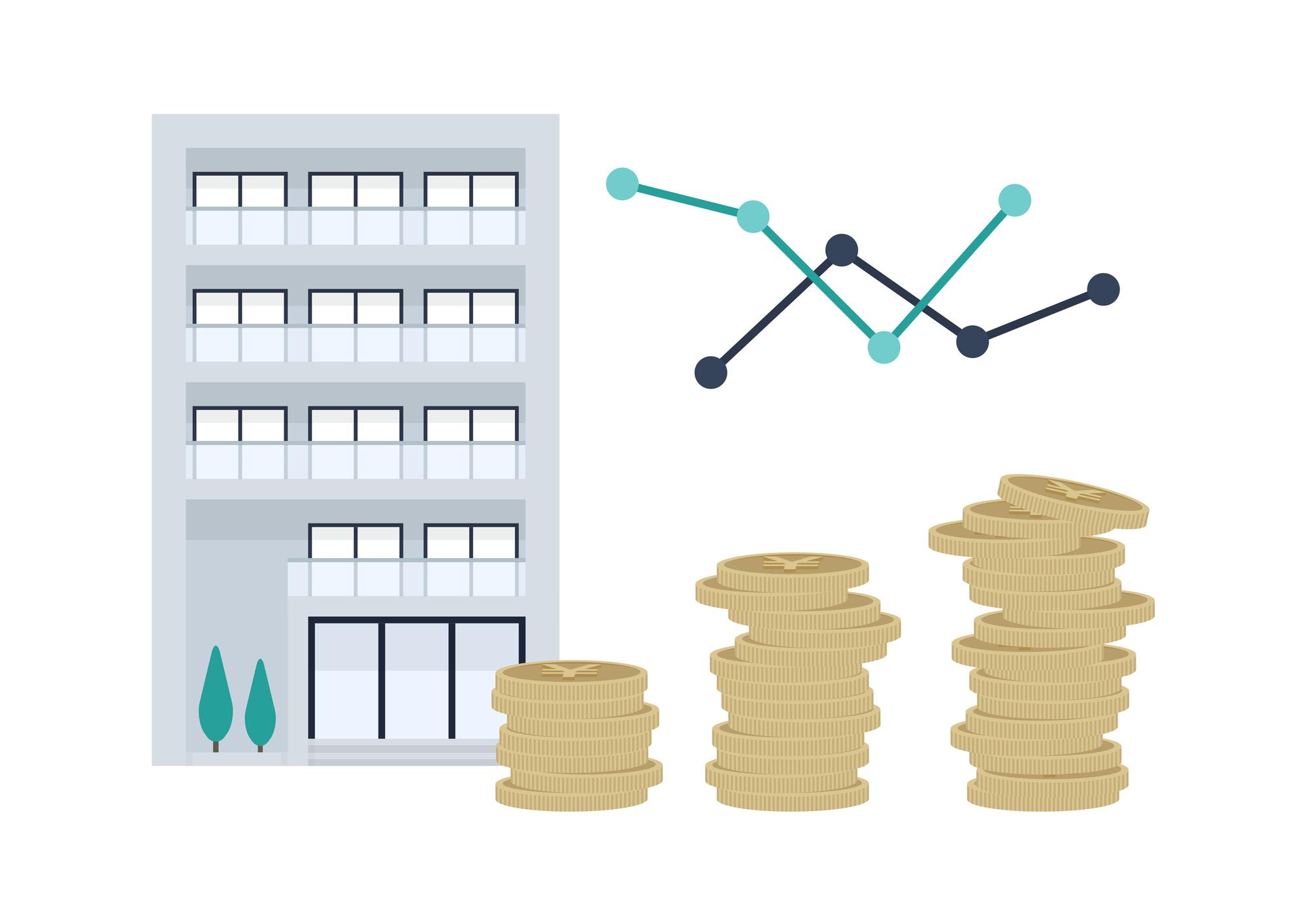 住宅ローンと金利変動のイメージ