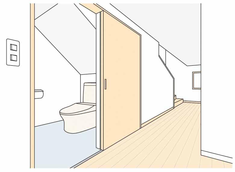 階段下をトイレにした場合のイメージ