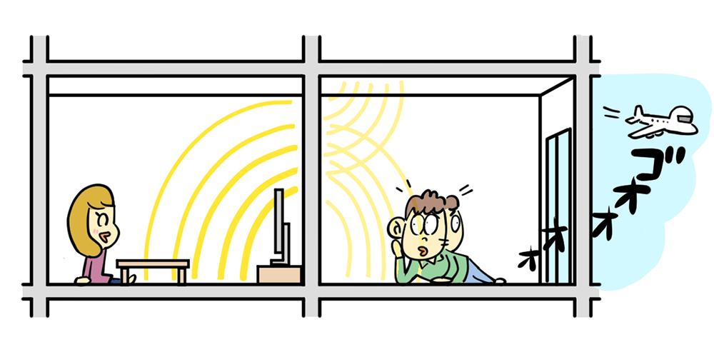 空気伝搬音のイメージ