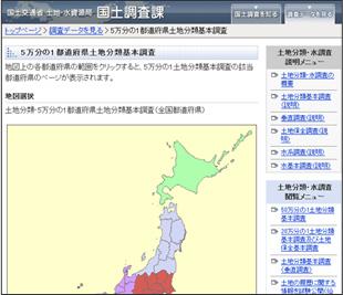 国土交通省・都道府県土地分類基本調査HP