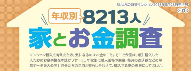 年収別8213人 家とお金調査 2013