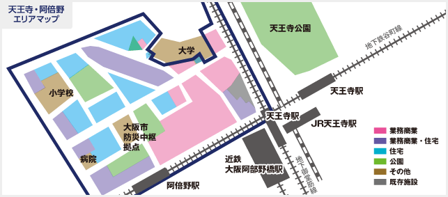 天王寺・阿倍野エリアマップ