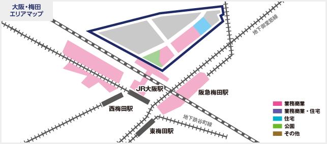 大阪・梅田エリアマップ