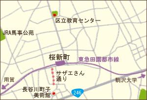 桜新町エリア地図
