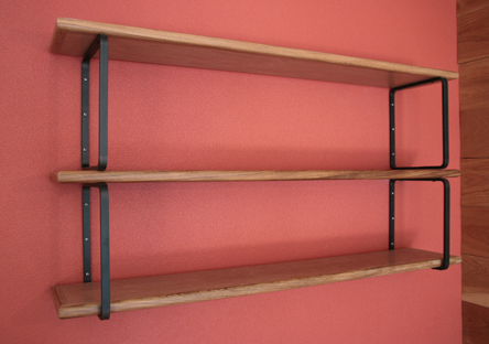 リングの棚受け+角丸棚板