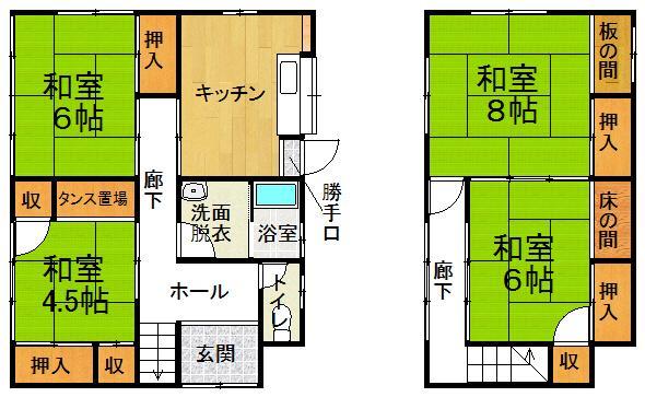 上乃木4(乃木駅) 400万円