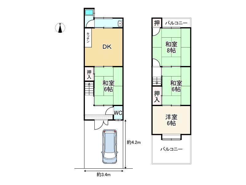 大宅沢町(椥辻駅) 1370万円