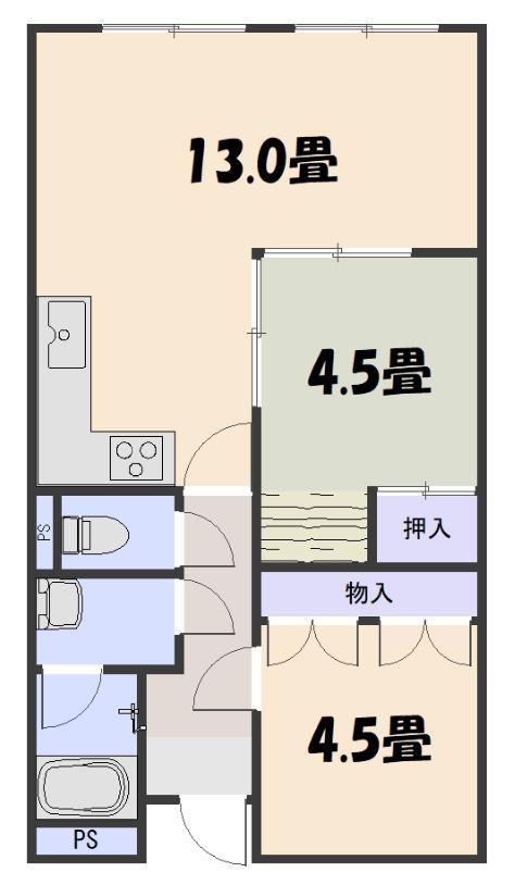 ニュー陽光園ハイツ 2階
