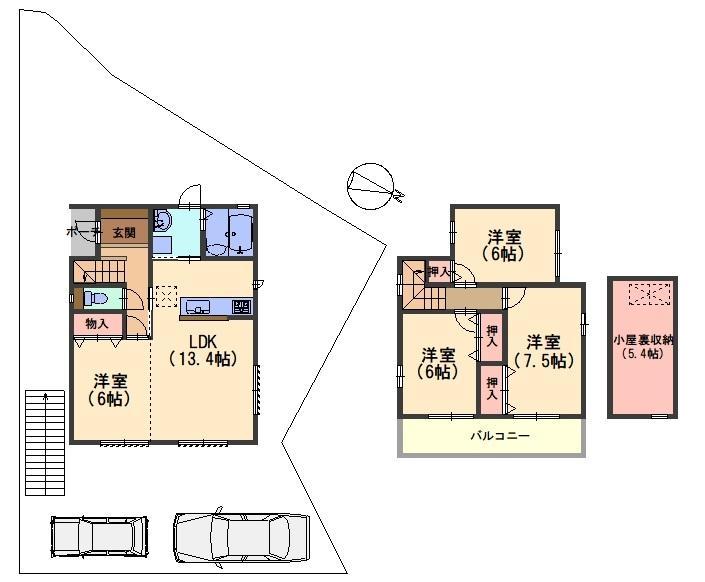 字円明寺小字鳥居前(西山天王山駅) 2680万円~3750万円