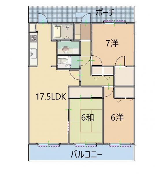 針木ガーデンヒルズ 上層階 2重床構造 ワイドスパン設計