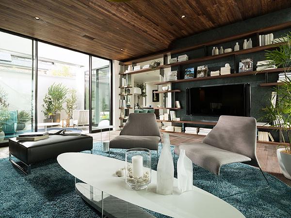 設計の段階からインテリアを考え、内観、家具、カーテンなどその家族の暮らしにフィットするインテリアコーディネートを提供。今の暮らしはもちろん、5年先、10年先の暮らしを見据えた提案で、生涯にわたり快適で、愛着を感じられる空間をデザインしていくのが同社の魅力である