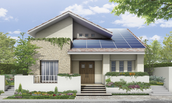 たっぷりの発電ができるように考えた屋根形状でありながら、外観のデザインも、間取りプランも自由にできるのがうれしい。例えばモダンな子育て住宅、南欧風の二世帯住宅、和モダンの 平屋など、好みやライフスタイルにぴったりの住まいをつくることができる。しかも次世代省エネ基準をクリアする性能が標準仕様で、1000万円台から建てられるのも魅力だ