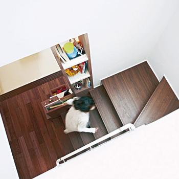 リビング階段により家族がつながる設計で、子どもの「ただいま」を感じられる住まいに