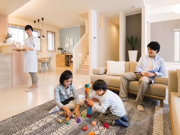 開放感あふれるLDKや家事ラク、子育てに特化した間取りなど、家族ごとのライフスタイルに合わせた間取りを実現できるように、自由設計が基本となっている。世界に一棟しかないオリジナルのマイホームを作り上げることができる。