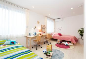 子供の成長に合わせてお部屋の間仕切りを調節できる。自由設計だからできる理想の間取り、理想の暮らし
