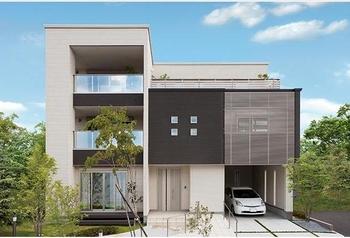 1階と2・3階で世帯の住居スペースを切り分け、二世帯住宅にできる。玄関や駐車場のみを共有とし、1・2階それぞれにキッチン、バス、トイレを設えれば、世帯間にプライバシーを保てるので、快適な生活を送ることができる