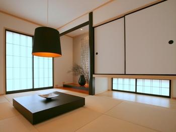 ゆったりくつろげる広々とした和室は、来客のおもてなしや子供たちの遊び場など、使い道も様々。つり戸棚にして窓を付けることで、風の通り道ができ新鮮な空気が入り込む