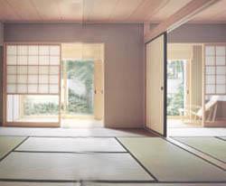 洋室と同じ木素材M-Woodの造作としたことにより、住まい全体の統一感を演出。伝統とミサワホームの先進技術がうまく融合している