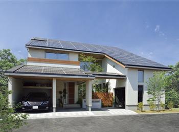 太陽光発電パネルを26.5kW搭載。豊富なバリエーションを用意している