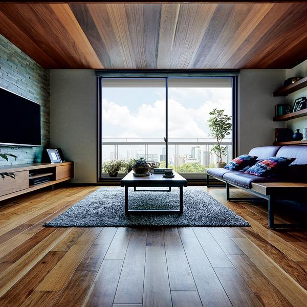 デシオの大きな魅力のひとつは、豊かな空間構成力。強靭なボックスラーメン構造により、タテにもヨコにも間仕切りを少なくできるので、ヴォリューム感あふれるオープンな空間づくりはもとより、1階から3階までをダイナミックにつなぐ、大空間のタワーを家の中に設けることも可能です