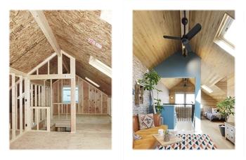 大胆な勾配天井を楽しんだり、こもり感のある空間で趣味に没頭したり、暮らしに新しい可能性をくれる屋根裏の活用。その実現に欠かせないのは、屋根からの熱をしっかり遮ること。「ダブルシールドパネル」は優れた断熱性能と高い構造耐力を備えた三井ホーム独自の屋根断熱構造材。25年以上の歴史を持ち、数多くの過酷なテストを乗り越え、その性能が実証されてきました。「ウエストウッド」の屋根裏部屋には「ダブルシールドパネル」の技術が生きている