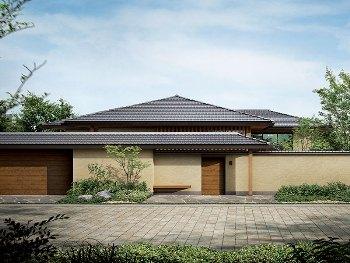 平屋をもっと、日本の風情を感じる住まいへ。四季のあるこの国の美しい風景を、ゆっくりと堪能できる住まいであること。外とのつながりや、部屋と部屋のつながりを大切にする、日本家屋のような住まいであること。目指したのは、庭や景色をどこからでも眺められる、日本の風情を感じる平屋