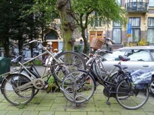 アムステルダムの自転車1
