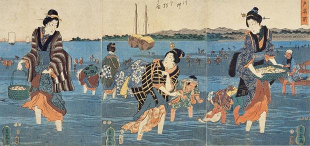 江戸時代の潮干狩り