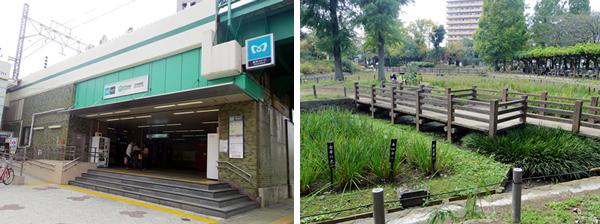 【画像1】北綾瀬駅。駅の近くにあるしょうぶ沼公園は憩いの場だ(撮影:編集部)