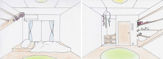 【画像4】最優秀賞を受賞した「自然と生きる家」の室内スケッチ(画像:コンテスト提案資料より転載)
