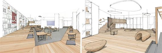 【画像2】日本家屋の縁側をイメージした交流スペース「ENGAWA」(画像提供:三菱地所レジデンス)
