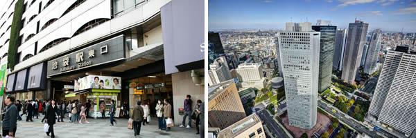3位の池袋駅と10位の新宿駅は「住みたい街ランキング」でも上位(新宿駅写真:sepavo / 123RF 写真素材)
