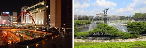 【画像4】立川駅と国営昭和記念公園