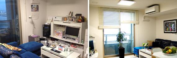 【画像1】(左)改装前、(右)改装後(写真提供:ホームステージング・ジャパン)