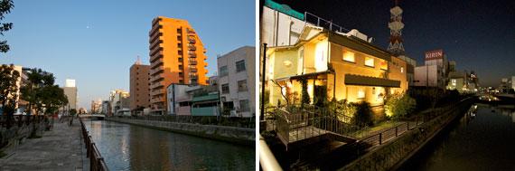 【画像6】市堀川の岸辺には遊歩道が整備されている。大阪ミナミの道頓堀川沿いと似たロケーションだ。ミナミのようなにぎわいに近づくことを願う(写真撮影:井村 幸治)