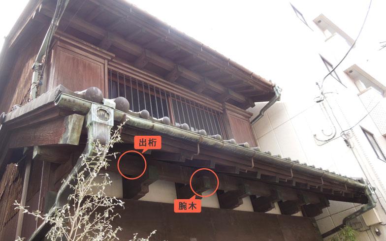 【画像2】前面に張り出した大きな軒。出桁(だしげた)や腕木(うでぎ)など伝統的な構法は見た目も美しい(写真撮影:山本久美子)