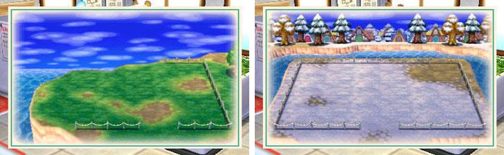 【画像5】MAPを見ながら、家を建てる場所を決められます。季節も変えられちゃうんです(画像提供:任天堂)