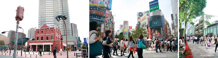 【画像1】1位・恵比寿ガーデンプレイス(左)/2位渋谷(中)/3位表参道(右)