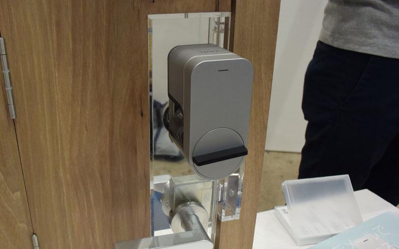 【画像2】「Qrio Smart Lock」価格は1万8000円(税抜)。購入はAmazon、アスキーストアより(写真撮影:SUUMOジャーナル編集部)