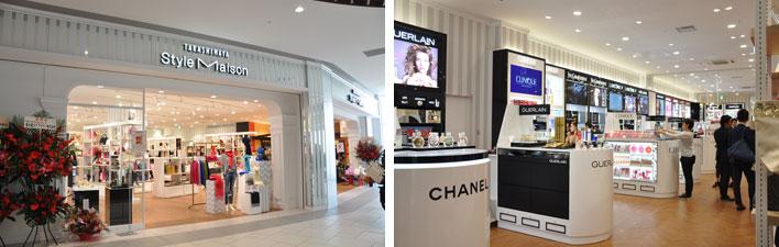 【画像3・4】「タカシマヤスタイルメゾン」の店舗。人気のコスメブランドや生活雑貨など、百貨店ならではの、高品質な商品が並ぶ(写真撮影:嘉屋恭子)