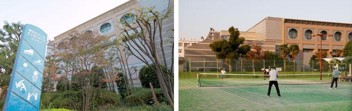 【画像6】「真田山」の中心に位置する真田山公園には、プールやアイススケート場、天王寺スポーツセンター、テニスコート、野球場などがありさまざまな年代の人々が集う(写真撮影:井村幸治)