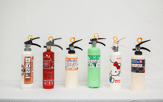 住宅用消火器はデザインもさまざま(画像提供:一般社団法人日本消火器工業会)